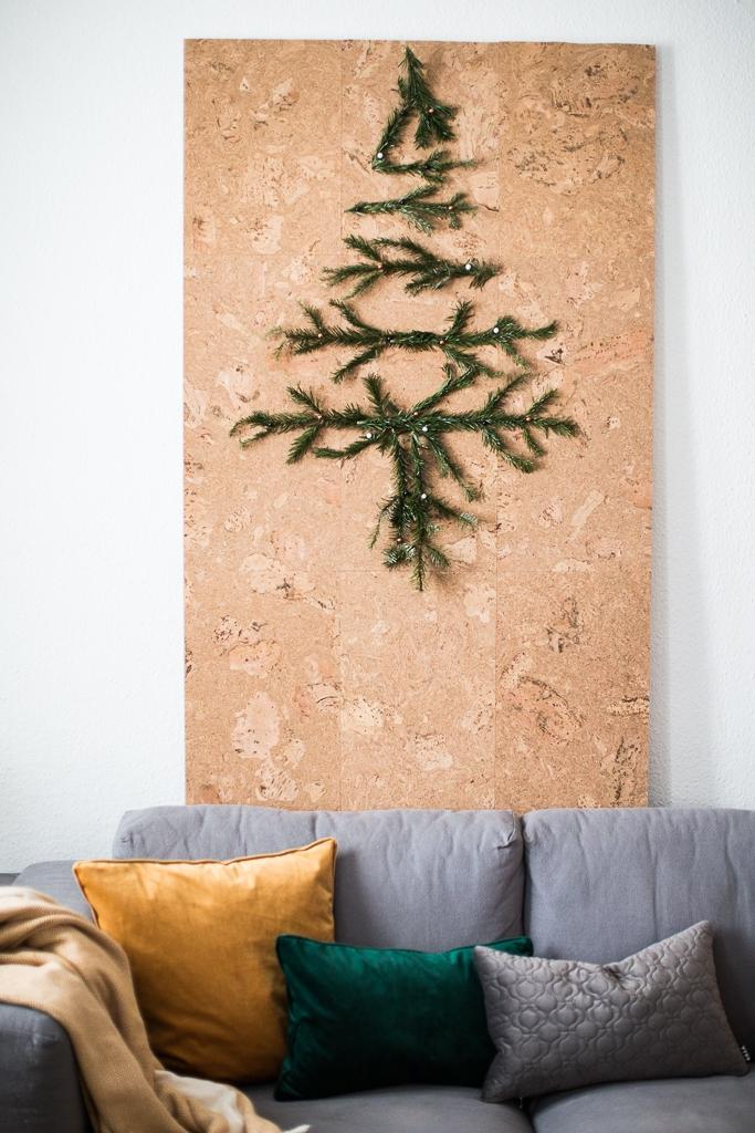 mobile wand aus kork aka der weihnachtsbaum doitbutdoitnow. Black Bedroom Furniture Sets. Home Design Ideas
