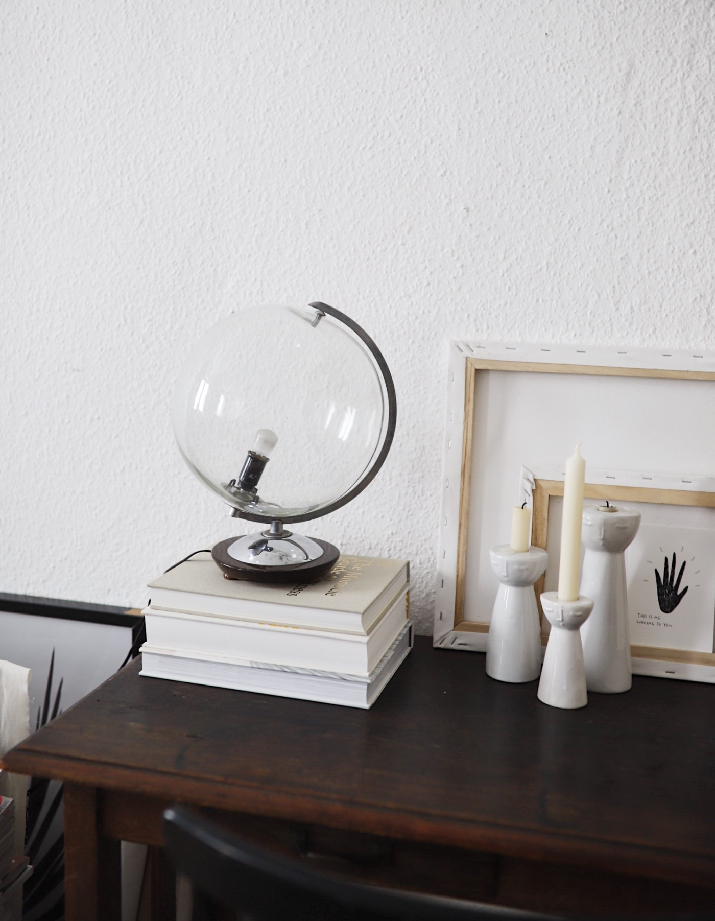 Fantastisk UPCYCLING: VINTAGE GLOBUS LAMPE • doitbutdoitnow BZ47