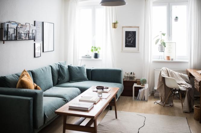 Wohnzimmer update Bemz Couch Bezug