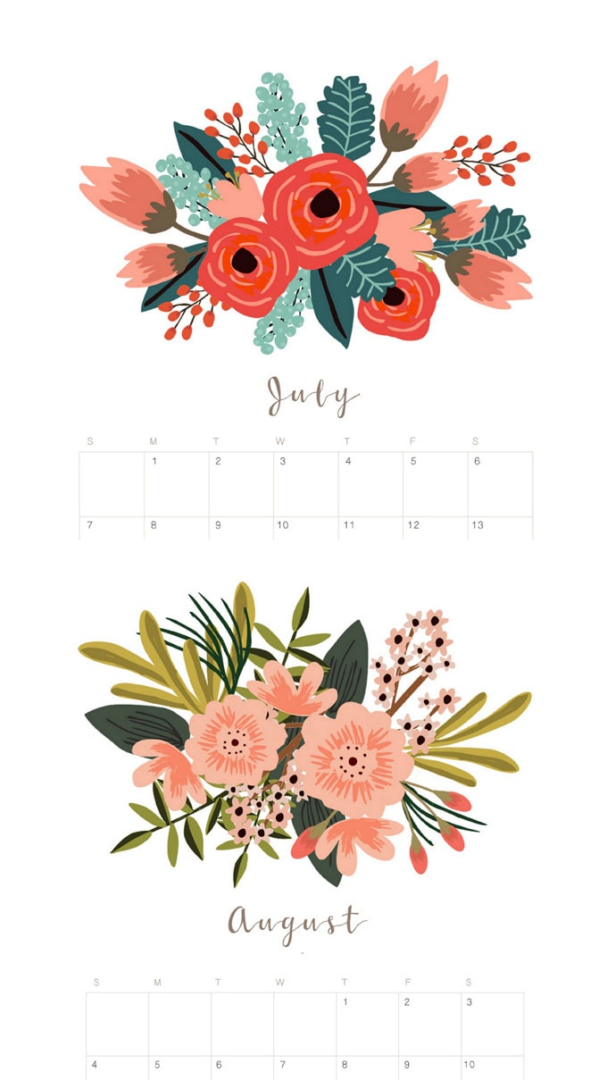 2019-monthly-calender-planner-free-printable-floral-flowers ...
