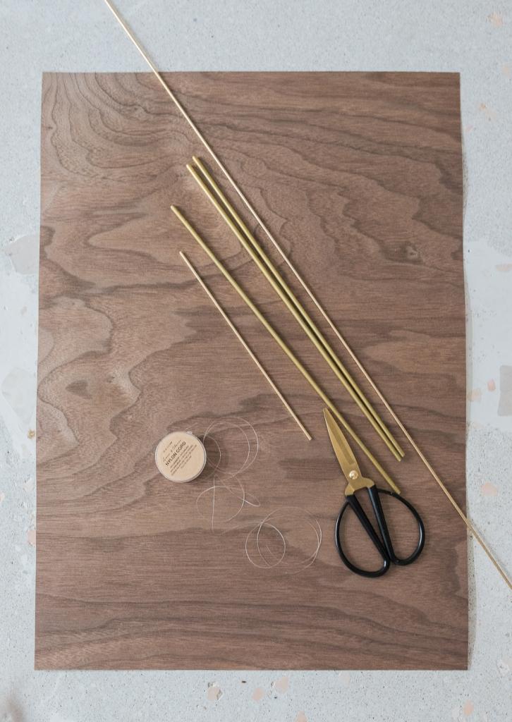 DIY Mobile aus Holzfunier - das Material