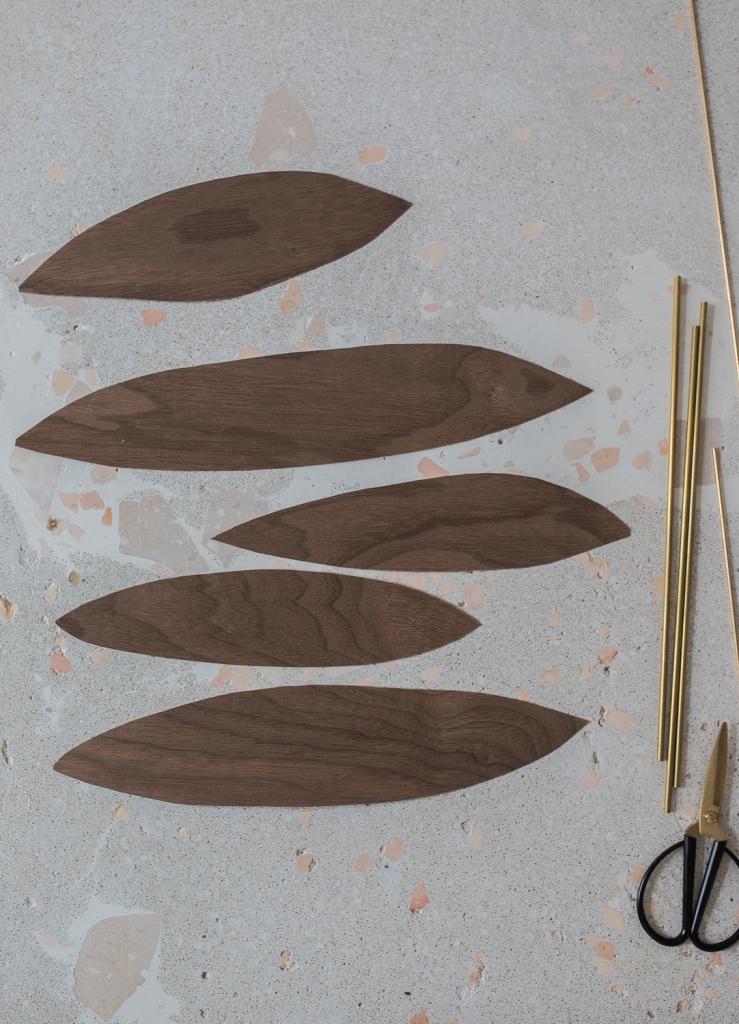 DIY Mobile aus Holzfunier - Ausschnitte
