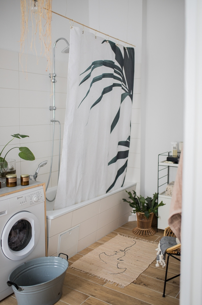 Badezimmer Wanne Juniqe Duschvorhang DIY Teppich