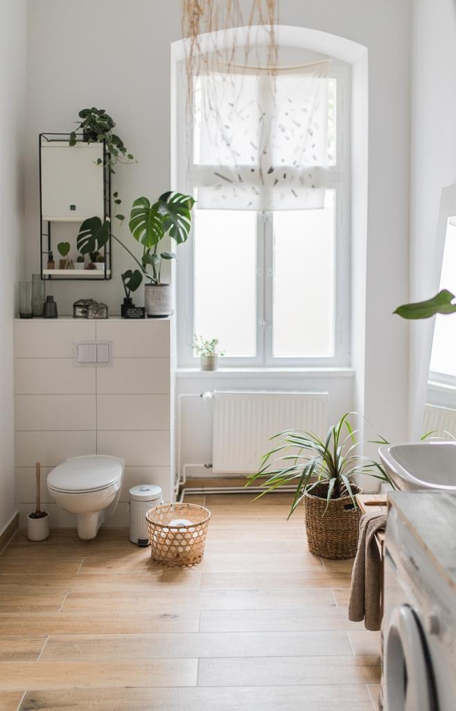 Begrüntes Altbau Badezimmer