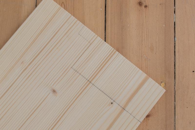 DIY Klapptisch für den schmalen Balkon Zuschnitt