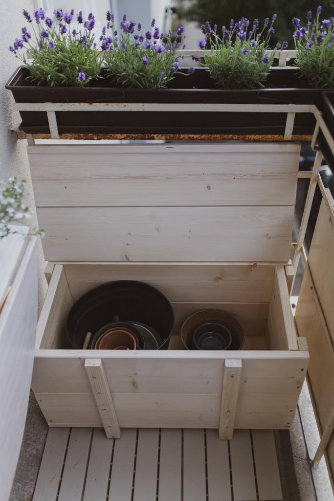 DIY Stauraum für den Balkon